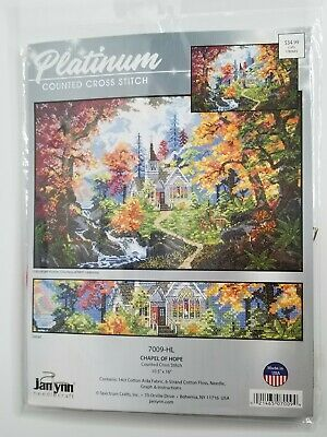 Primary image for JANLYNN Chapel of Hope Cross Stitch Kit #7009-HL NEW Church Platinum Collection