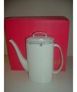 Lenox Kate Spade Emmett Street Platinum Coffee Pot Unused in box - $219.99