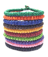 Knotted Wax Cotton Cord Thai Buddhist Wristband Classic Handcrafted Wris... - $6.83