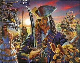 The Pirate Sword Ship Treasure 100 pc Bagged Boxless Jigsaw Puzzle - $10.00