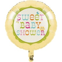 "Happi Tree Baby Shower Sweet Baby Owl Decor  18"" Foil Mylar Balloon - $2.99"
