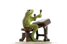 Hagen Renaker Miniature Frog Froggy Mountain Breakdown Dulcimer Ceramic Figurine image 7