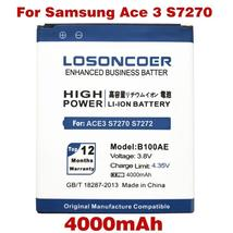 LOSONCOER 4000mAh B100AE For Samsung Galaxy Ace 3 Battery S7270 S7272 S7898 S756 - $16.90