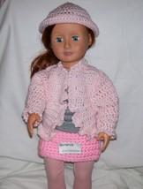 American Girl Pink Hat, Handmade, Crochet, 18 Inch Doll - $7.00