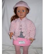 American Girl Pink Hat, Handmade, Crochet, 18 Inch Doll - $9.00