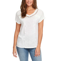 Gloria Vanderbilt Ladies' V-Neck Embroidered Top - Crystal White LARGE S... - $9.49