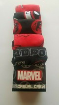 Marvel Deadpool  Men Casual Crew Socks 5 pairs per pack fits shoe size 8... - $20.95
