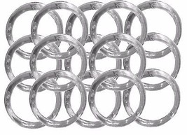 "12 Napkin Rings plastic acrylic 1.75"" diameter- Clear - $2.27"