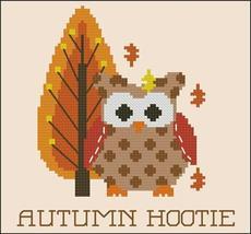 Autumn Hootie owl fall cross stitch chart Pinoy Stitch - $5.40