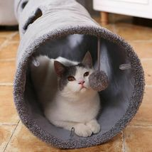 Collapsible Cat Tunnel Crinkle Kitten Play Tube For Large Cats Dogs Bunnies Toy  image 3