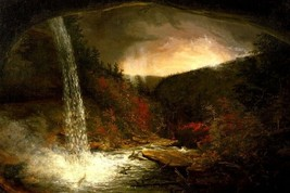 Kaaterskill Falls Thunderstorm American Landscape Painting By Thomas Cole Repro - $10.96+