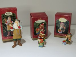 Lot of 3 1999 Hallmark Ornaments Arctic Artist, Mary's Bears, Toymakers ... - $30.64