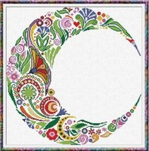 Spring Moon cross stitch chart Alessandra Adelaide Needlework - $16.20