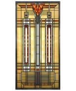 Frank Lloyd Wright BRADLEY HOUSE SKYLIGHT Stained Art Glass Panel Display - $101.85