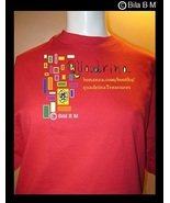 QUADRINA SilkScreened Serigraphic Red T-shirt -  Sizes: M, L, and XL - $39.99
