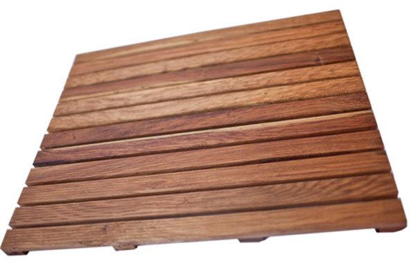Solid Premium African Teak Wood Floor Mat Grade-A 32 x 20 - $119.95