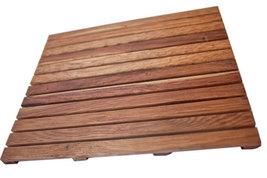 Solid Premium African Teak Wood Floor Mat Grade-A 28 x 20 - $109.95