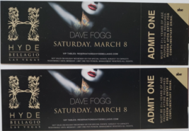 DJs Derrick Anthony, Dave Fogg @ Hyde Bellagio Las Vegas Ticket Stubs  - $5.95