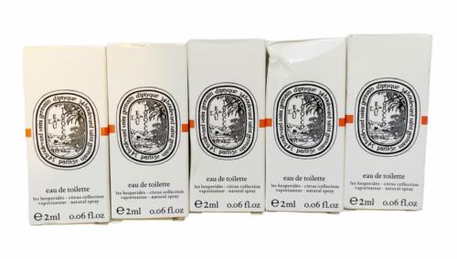 Lot of 5 DIPTYQUE L'EAU DES HESPERIDES EDT DELUXE SAMPLE 2 ml NEW IN BOX CITRUS