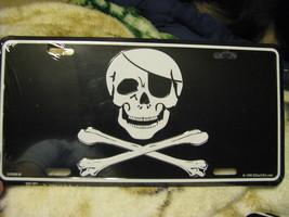 License Plate Traditional Skull and Cross bones... - $7.90