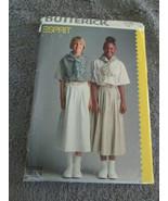 Butterick 6024 Size 14 Girls Skirt and Shirt Easy Pattern - $6.99