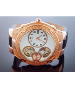 NEW AQUA MASTER 45 MM ROUND 20 DIAMONDS AUTOMATIC WATCH - $191.99
