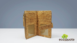 EcoQuote Eco-Friendly Bi Fold Side Zip Wallet Handmade Cork Material for... - $27.50