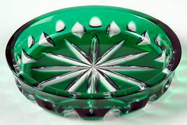 "Details about   Faberge Coaster 4"" diameter in Emerald Green  without box - $125.00"