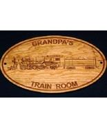 PERSONALIZED TRAIN ROOM SIGN For Grandpa / Wooden / Railroad Theme / Cus... - $39.99