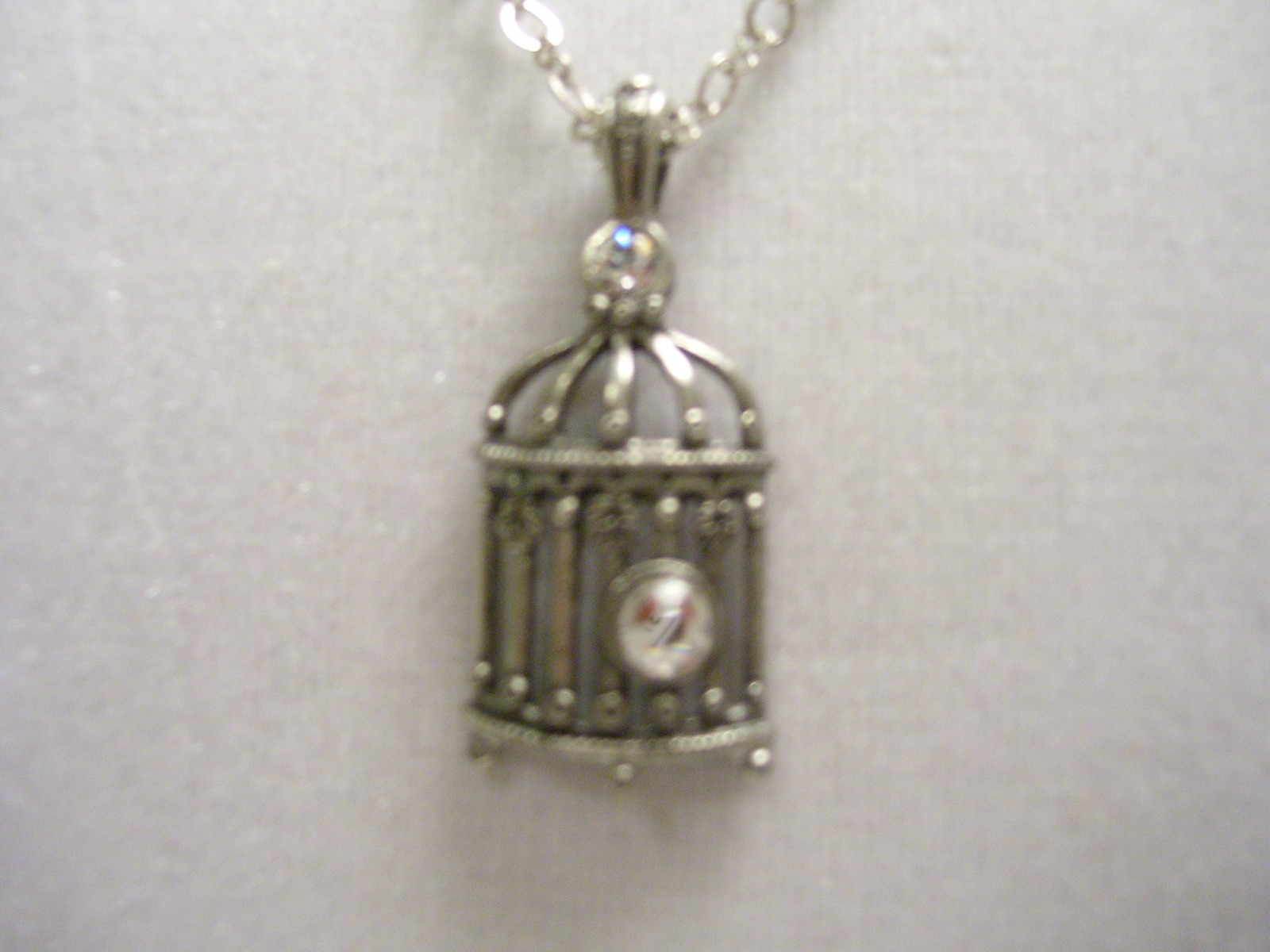 Little birdie Birdcage Charm Necklace