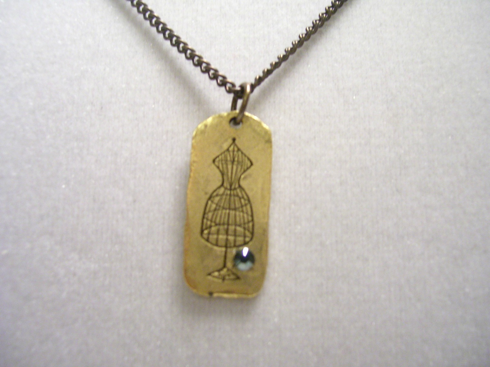 Antique gold Dress Form Charmed Necklace