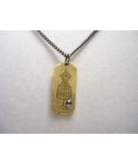 Antique gold Dress Form Charmed Necklace - $17.00