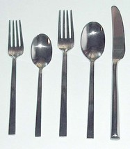 Lenox Angle 5 Piece Place Setting 18/10 Stainless Flatware Set New - $22.90