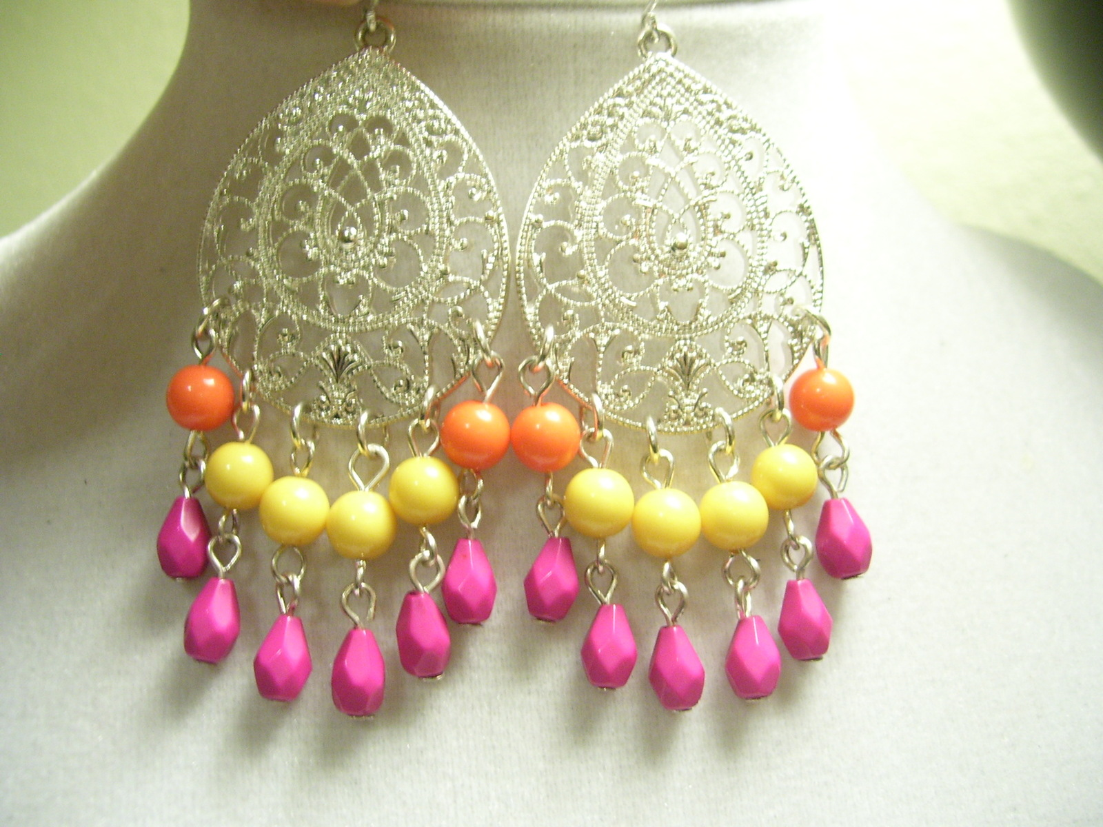 Silver Filigree Boho Earrings