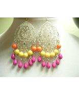 Silver Filigree Boho Earrings - $5.00
