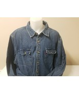 Levi Western Men's Shirt Cotton Denim  Button Down Shirt Medium Wash Siz... - $33.67