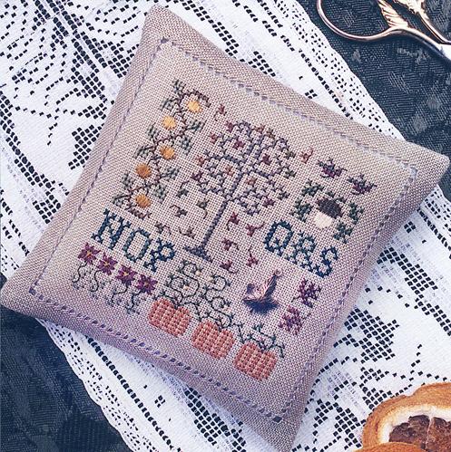 Spot of Autumn spring cross stitch chart Drawn Thread - $6.30