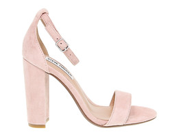 Heeled sandal STEVE MADDEN CARRSON R in rose suede leather - Women's Shoes - $115.14