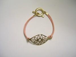 Floral filigree pink Corded Bracelet - $6.00