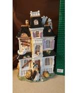 Fitz & Floyd 2003 Halloween HARVEST HOOTY HAUNTED HOUSE Ceramic Cookie J... - $269.95