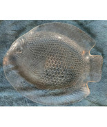 """Arcoroc France Large Clear Glass FISH SHAPE PLATTER 15"""" x 12"""" Poisson Tray - $16.82"""