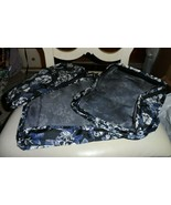 Vera Bradley - Packing Cubes Set Of 3 - Frosted Floral Black/Gray - $55.00