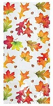Fall Leaves Large Cello Bags, White - $9.85