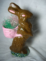 Handmade Chocolate Colored Easter Bunny by Christopher James in Paper Mache image 2