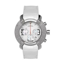 New! Aqua Master Large Round 20 Diamonds Watch White Face - $177.38