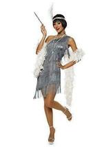 Silver Flapper Womens Costume Medium - $27.58