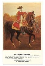 Colonel Oglethorpe's Uniform Fort Frederica St Simons Island Vntg Georgia Postca - $7.99