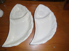 2 Del Mar of California Ceramic Pottery Shaped Dip and Snack Dishes Reli... - $15.18