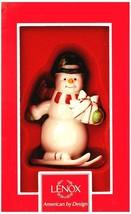 Lenox Downhill Snowman on Skis Christmas Ornament BNIB/SDS - $14.95