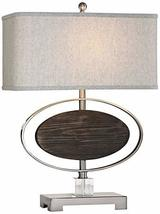 Uttermost Malik Brushed Nickel and Espresso Stain Table Lamp - $334.40